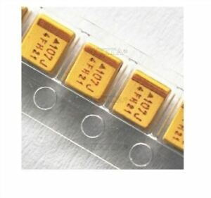 100Pcs-Tantalum-Capacitors-Type-B-20-3528-6-3V-100Uf-Smd-Surface-Mount-Ic-Ne-wb