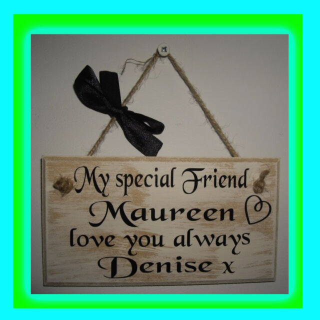 Personalised Wall Plaque - Special Friend - Best Friend  - customise names