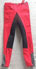 Premiere Kinder Reithose, 3/4 Vollbesatz,rot,Gr 152, Iris,  (95)