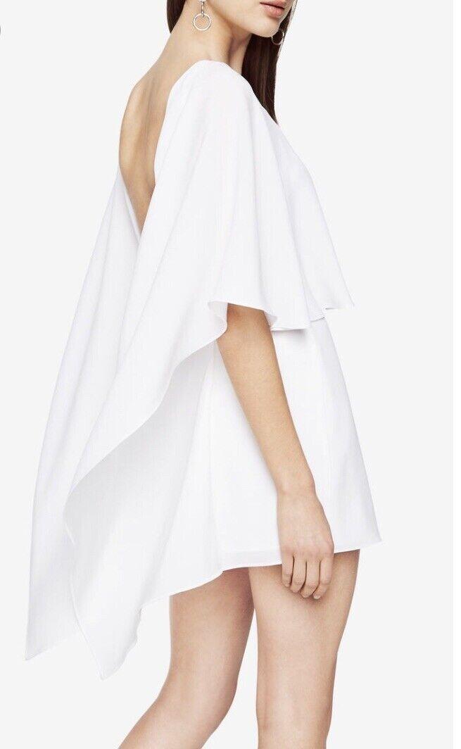 BCBG Jamey Weiß Lace Cape Dress 2 New