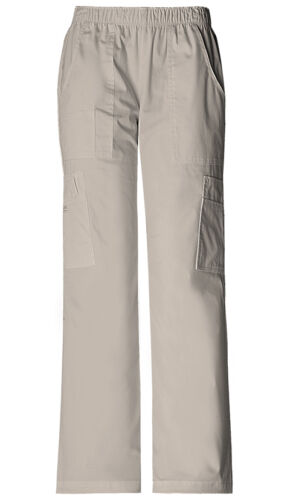 Scrubs Cherokee Workwear Mid Rise Cargo Pant 4005 KAKW Khaki Free Shipping