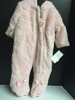 Girls Infant One Piece Outerwear Jacket Size 3/6 Months Pink Jumpsuit Winter