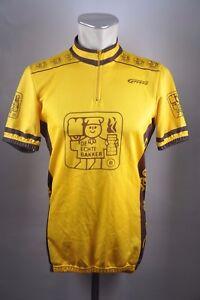 De-veritables-Bakker-Boulanger-Vintage-Cycle-Jersey-Velo-Roue-Maillot-taille-L-56-cm-u7