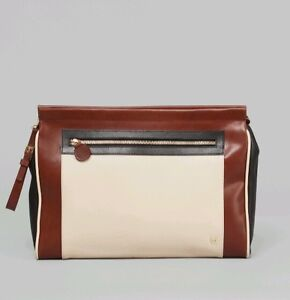 MYSUELLY-MARTINE-OVERSIZE-LEATHER-CLUTCH-BAG-COGNAC-RRP-265