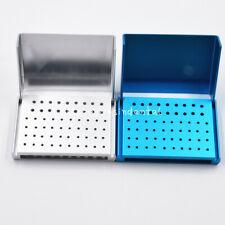 Dental 58 Hole Aluminium Burs Box Holder Block Case Disinfection Stand Autoclave
