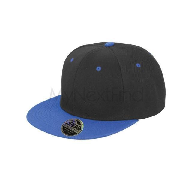 Mens Result Core Bronx Original Flat Peak Snapback Dual Colour Baseball Cap Hat