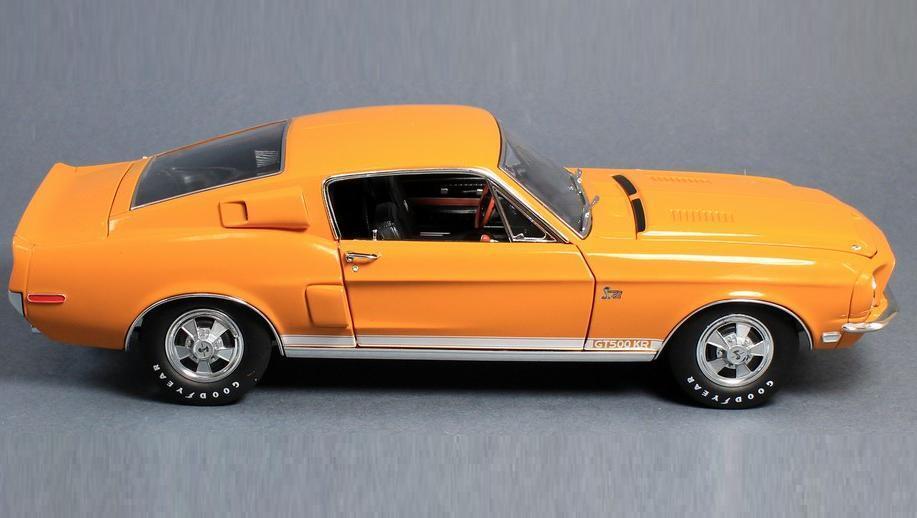 ACME 1:18 1968 Shelby GT500KR Diecast Model Car arancia A1801807
