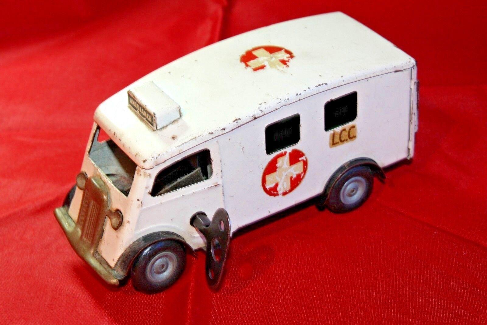 VINTAGE TRI-ANG MINIC No.75M  wadhams  London County Council ambulanza.