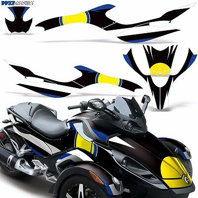 Can Am Roadster >> Full Graphic Kit Can Am Spyder Rt Rt S Decals Cam Am Roadster Wrap Brp Parts R Ebay