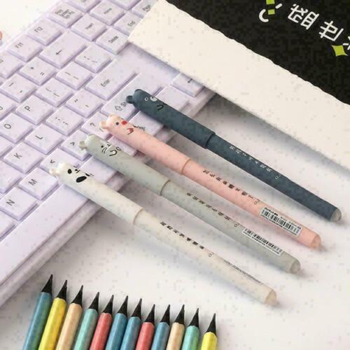 1Pcs Cartoon Katze Gel Ink Pen Kugelschreiber 0,35mm Pe Neu Tinte-St C7Z8 K3V3