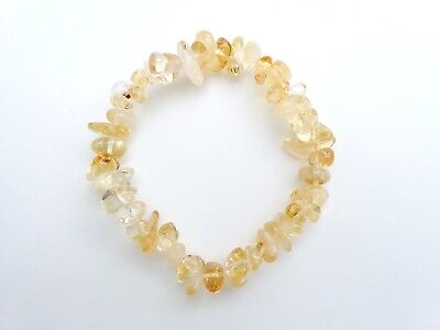 A Grade Peridot Crystal Chip Bracelet Reiki Charged