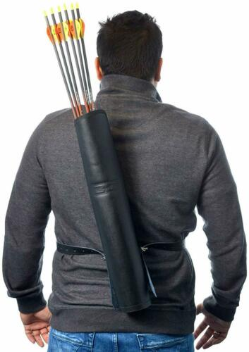 Back Arrow Quiver Genuine Leather Arrow Holder Traditional High-Grade Handmade