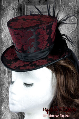 Gothic Steampunk Neo Victorian Millinery Top Hat Making Sewing Pattern 3//4 size.