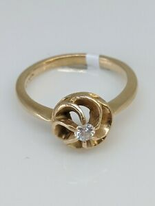 14k-10ctw-Round-Flower-Ring-Estate-Ring