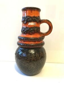SCHEURICH Wien  Keramik Vase WGP Fat Lava rot red black brown Form 428-26