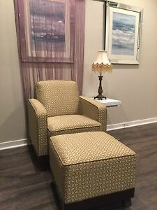 Accent Chair Sofa Style With Matching Ottoman For