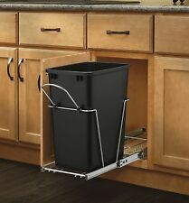 35 quart Trash Can Bin Under Cabinet Storage Pull Out Stow Mount Garbage