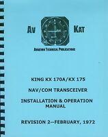 King Kx 170a / Kx 175 Installation Manual
