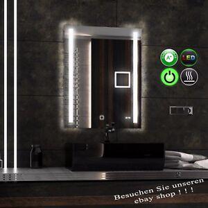 neu design passpower 60 80 ledspiegel badspiegel kosmetikspiegel uhr heizmatte ebay. Black Bedroom Furniture Sets. Home Design Ideas