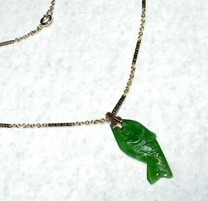 UNIQUE-HAND-CRAFTED-JADE-FISH-PENDANT-WITH-17-INCH-CHAIN