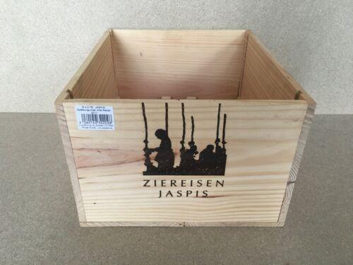"""Weinkiste 6er Kiste VDP GG Wein Shabby Chateau Regal /""""Ziereisen Jaspis/"""""""