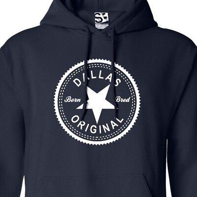 Dallas Original Inverse HOODIE - Hooded Born & Bred in Sweatshirt - All Colors