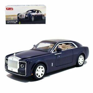 1-24-Rolls-Royce-Sweptail-Metal-Diecast-Model-Car-Light-Sound-Pullback-Blue-Xmas