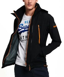 Superdry-Mens-Technical-Hooded-Wind-Attacker-Multi-Zip-Up-Jacket-Coat-Black