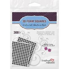 "#1613 Scrapbook Adhesives 3D Self-Adhesive Black Foam Squares 308/Pkg 0.25""x.25"""