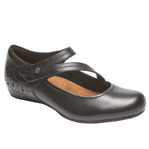 Cobb Hill Women's Sharleen Mary Jane Black Leather Shoe US 7 7 US Medium ead850