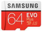 Samsung EVO Plus 64gb MicroSD Micro Memory Card Class 10 100mb/s Uhs3 HD 4k