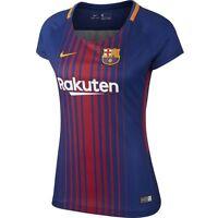 Nike Barcelona Season 2017 - 2018 Womens Soccer Home Jersey Red - Royal