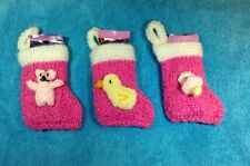 KNITTING PATTERN Baby's 1st Christmas stocking tree decoration - baby girl / boy