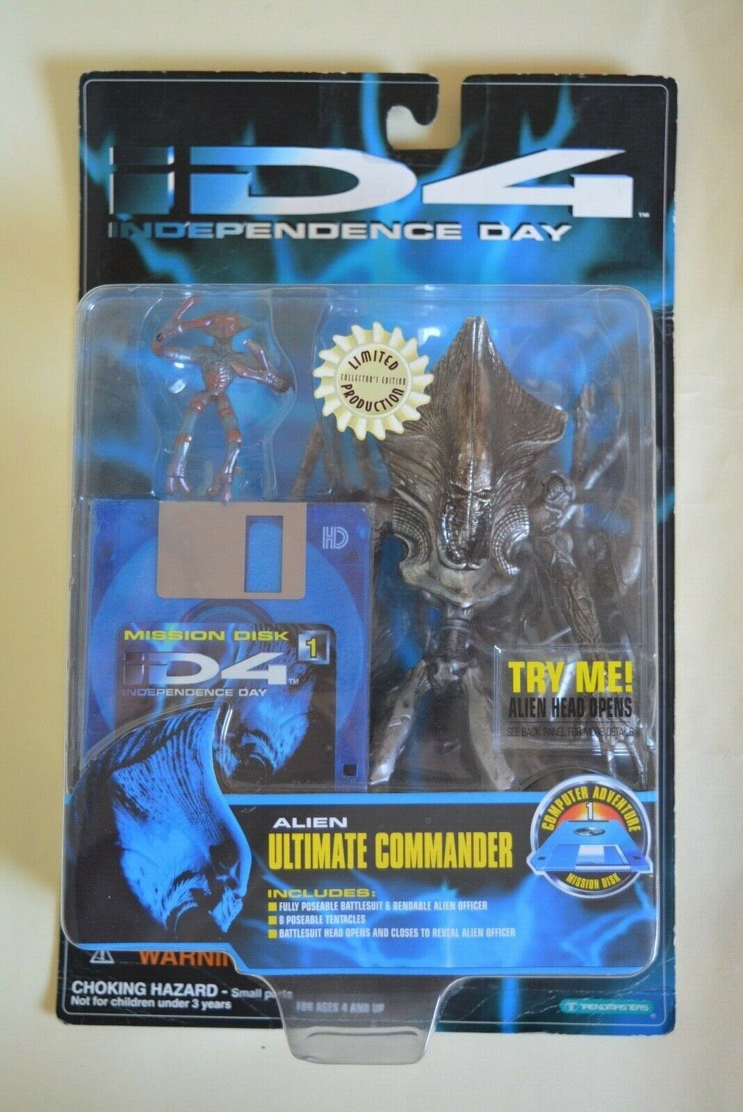 Trendmasters Independence Day ID4 ALIEN ULTIMATE COMMANDER (Limited Production)