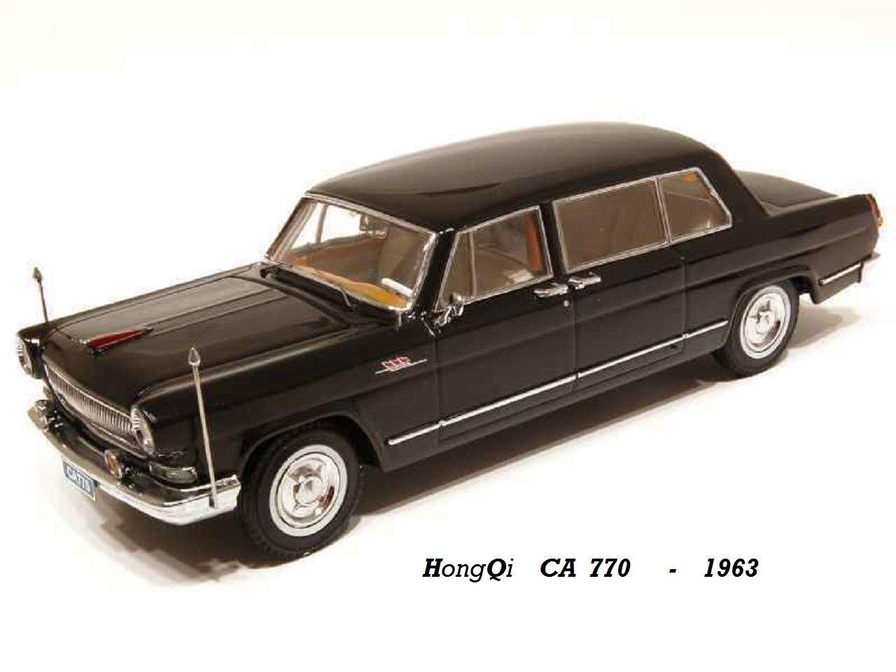 Bienvenue dans la nouvelle boutique boutique boutique en trois étapes pour célébrer les quatre auspicieux HONGQI Limousine CA 770 Noire 1963  Century Dragon 1/18   Exquise (in) De Fabrication  7b80ce