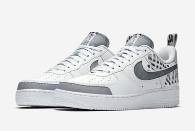 Nike Air Force One 1 Low Under Construction White Wolf Grey Black BQ4421 100 | eBay