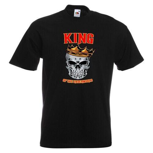 King Of The Skull Mens PRINTED T-SHIRT Crown Underworld