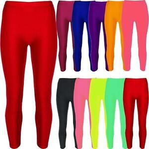 3f2b77ec27186 Image is loading Kids-Girls-Gymnastic-Shiny-Dance-Leggings-Ballet-Stretch-