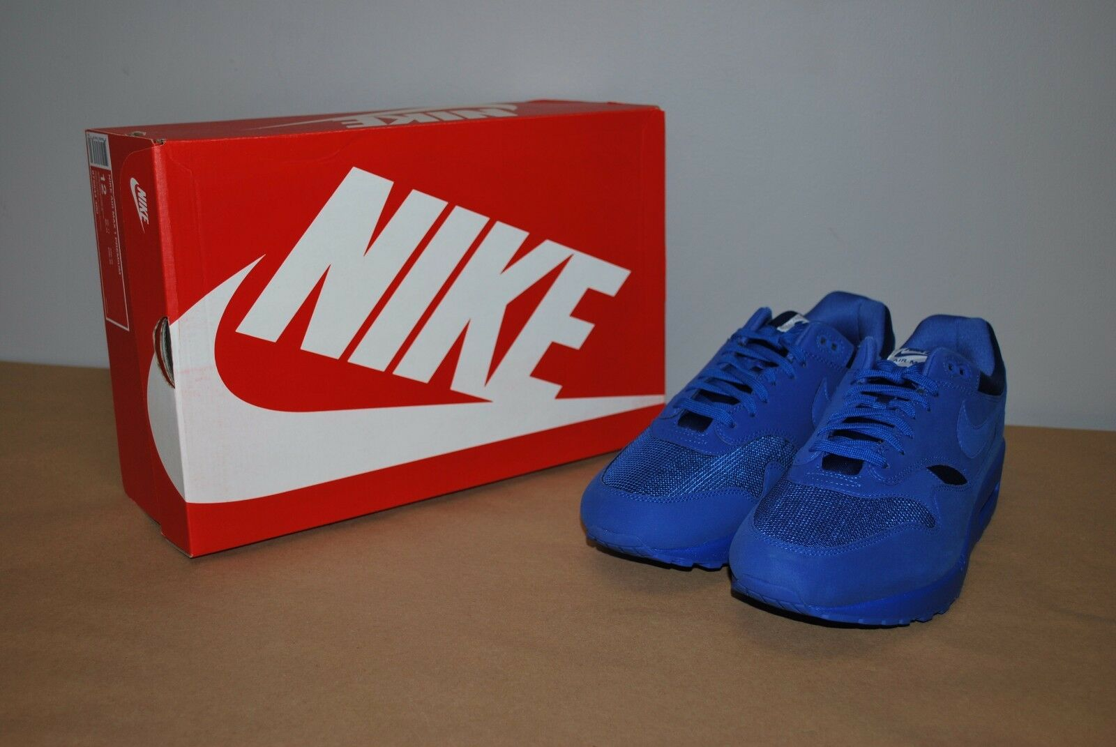 Details about Nike Air Max 1 Premium Tonal Pack Game Royal Blue 875844 400 Men's 8.5
