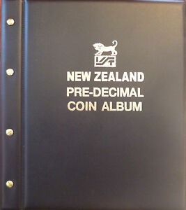 NEW-ZEALAND-PRE-DECIMAL-COIN-ALBUM-BLACK-COLOUR-1933-1965-with-MINTAGES-SHOWN