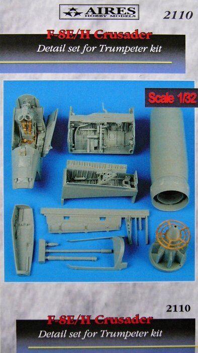 marca en liquidación de venta Aires 1 32 F-8e   II II II Crusader Set Dettagli per Trumpeter Kit  2110  apresurado a ver