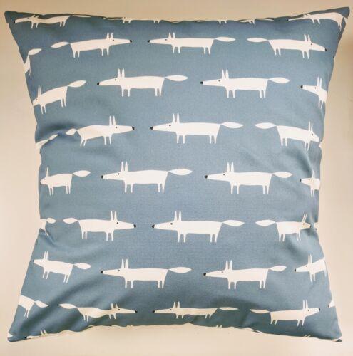 "Scion Mini Little Mr Fox Cushion Cover Navy Blue 16/"""