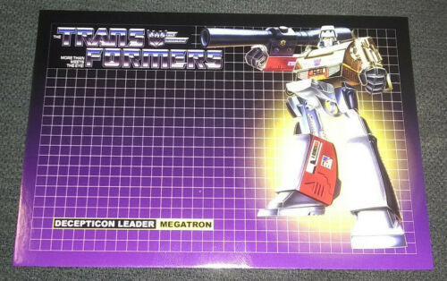 Transformers G1 Megatron 4x6 Postcard Decepticons Poster Print 80/'s Art