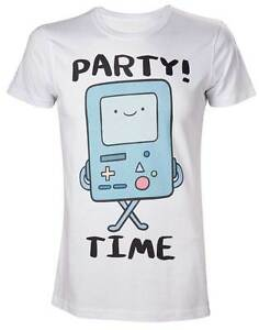 Official-Adventure-Time-Beemo-BMO-Party-Time-Vintage-Print-Short-Sleeved-Tshirt