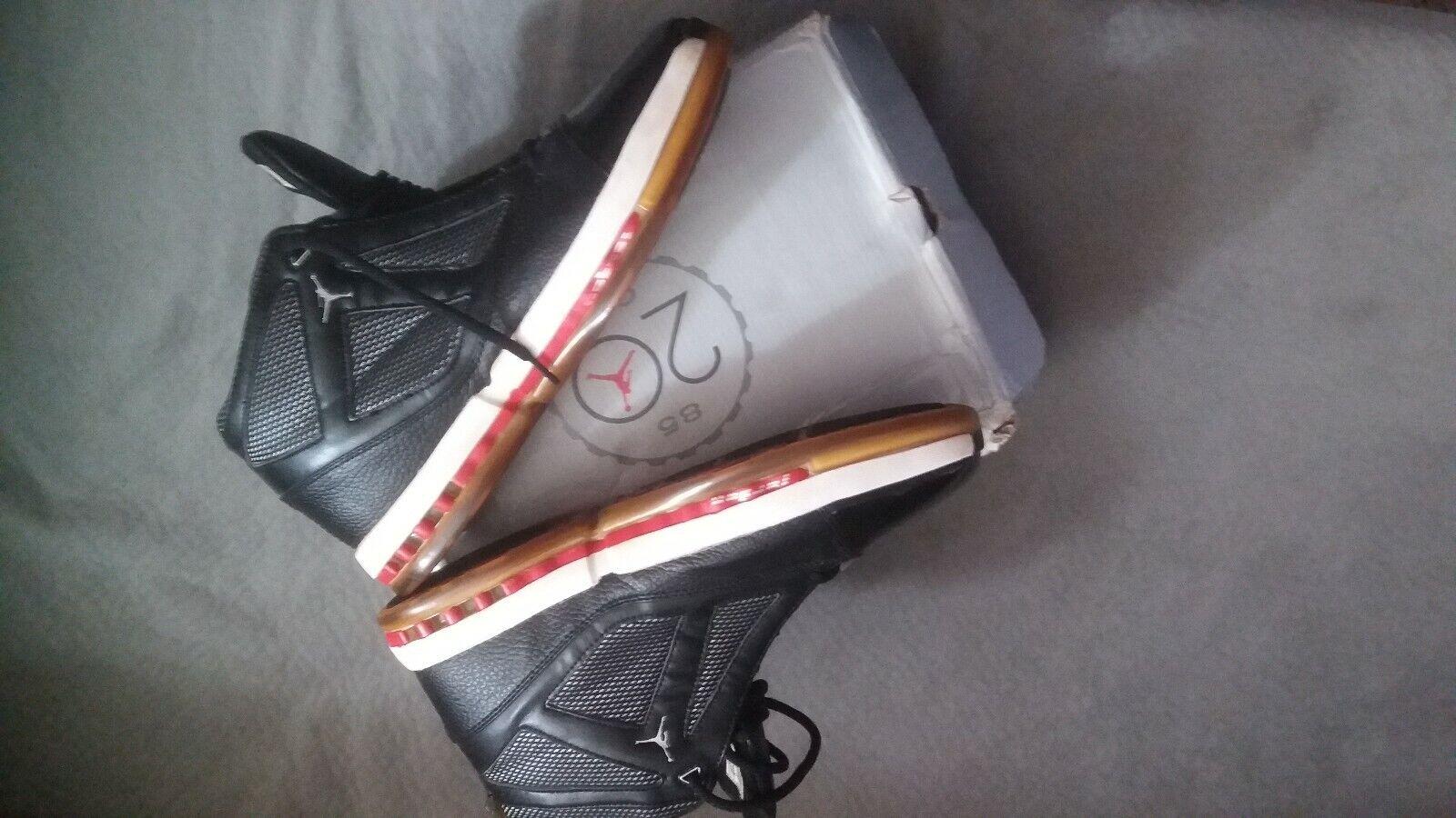 Air Jordan 16 sz 12 black and red