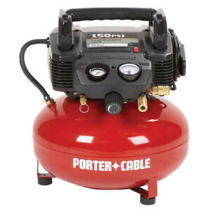 Porter-Cable-0-8-HP-6-Gal-Oil-Free-Pancake-Air-Compressor-C2002-Recon