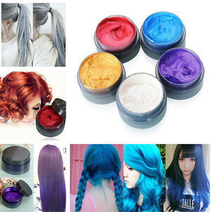 unisex diy permanent haarfarbe creme haar creme grau gold rot lila blau ebay. Black Bedroom Furniture Sets. Home Design Ideas