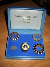 RARE BEAUTIFUL VINTAGE SAMBA INTERCHANGE FINGER RING WIND WATCH SWISS MADE