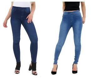 Clothing, Shoes & Accessories Jeans Ladies Skinny Fit Pull On Women High Waist Stretch Denim Ankle Jeggings Pants