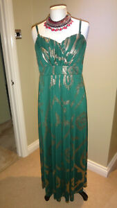 SIMPLY-BE-GREEN-amp-GOLD-SPARKLY-XMAS-PARTY-MAXI-DRESS-UK-12